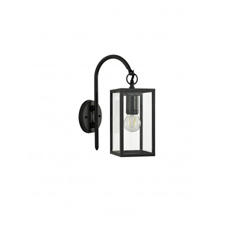 Cielo Downward Wall Lamp, 1 x E27, IP54, Graphite Black, 2yrs Warranty DELight - 3