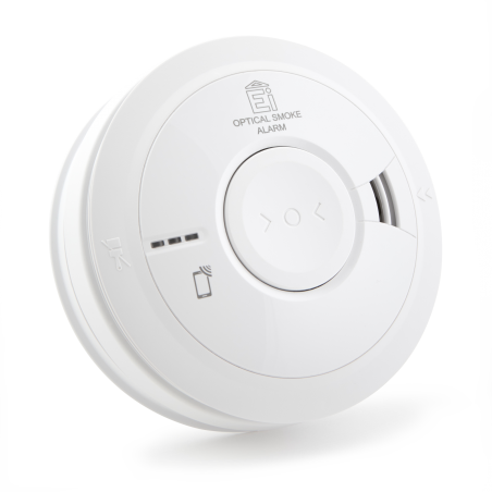 Aico Ei3016 Mains powered Optical Smoke Alarm With 10yr Rechargeable Lithium Battery Backup