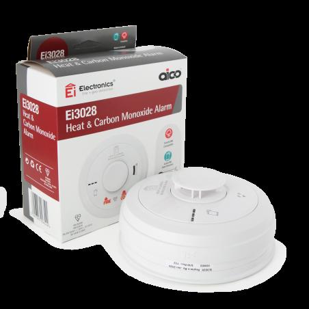 Aico Ei3028 Mains Powered Heat and Carbon Monoxide Alarm Aico - 3