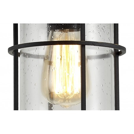 Star Pendant, 1 x E27, Black/Gold With Seeded Clear Glass, IP54, 2yrs Warranty DELight - 9