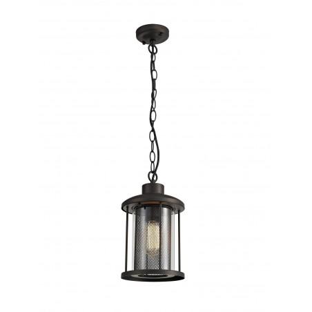 Dawn Pendant, 1 x E27, Antique Bronze/Clear Glass, IP54, 2yrs Warranty DELight - 1