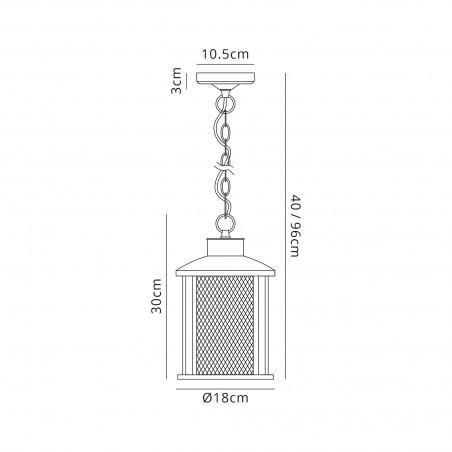 Dawn Pendant, 1 x E27, Antique Bronze/Clear Glass, IP54, 2yrs Warranty DELight - 2