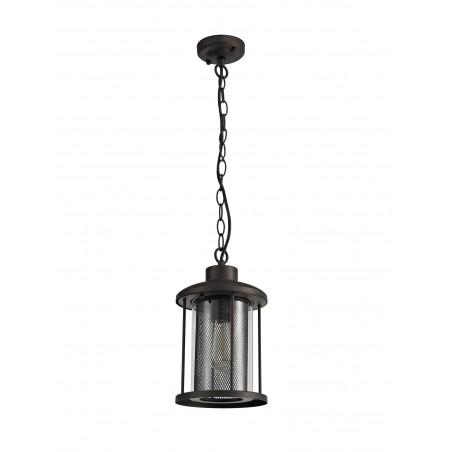 Dawn Pendant, 1 x E27, Antique Bronze/Clear Glass, IP54, 2yrs Warranty DELight - 4