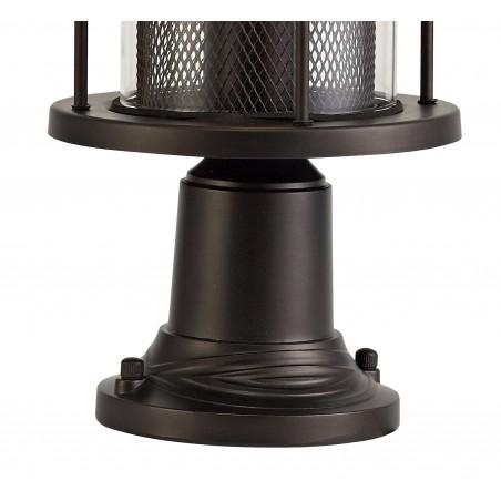Dawn Pedestal Lamp, 1 x E27, Antique Bronze/Clear Glass, IP54, 2yrs Warranty DELight - 4