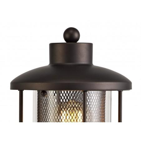 Dawn Pedestal Lamp, 1 x E27, Antique Bronze/Clear Glass, IP54, 2yrs Warranty DELight - 5