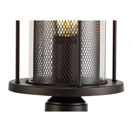 Dawn Pedestal Lamp, 1 x E27, Antique Bronze/Clear Glass, IP54, 2yrs Warranty DELight - 6