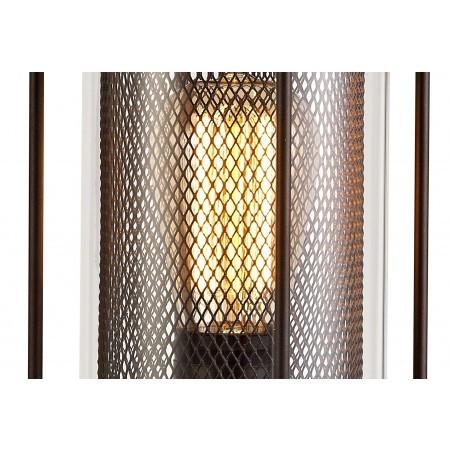 Dawn Pedestal Lamp, 1 x E27, Antique Bronze/Clear Glass, IP54, 2yrs Warranty DELight - 7
