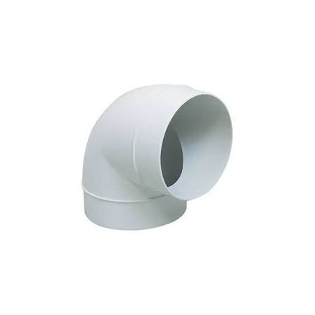 Greenwood GD424 90Deg Solid Duct Bend 100mm PVC Greenwood Airvac - 1