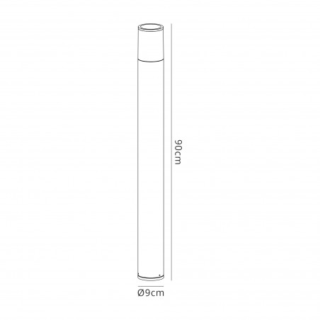 Divina 90cm Post Lamp 1 x E27, IP54, Anthracite/Opal, 2yrs Warranty DELight - 2