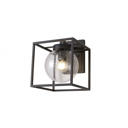 Capella Down Wall Lamp, 1 x E27, IP54, Anthracite/Clear Seeded Glass, 2yrs Warranty DELight - 1