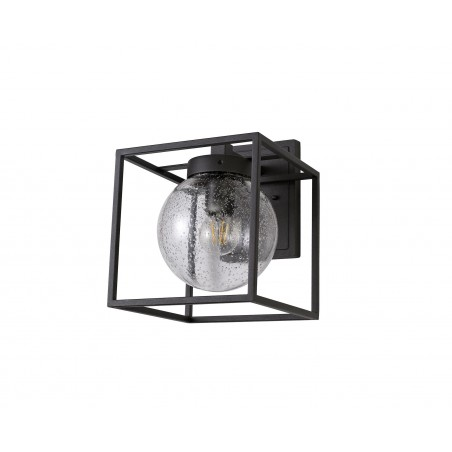 Capella Down Wall Lamp, 1 x E27, IP54, Anthracite/Clear Seeded Glass, 2yrs Warranty DELight - 3
