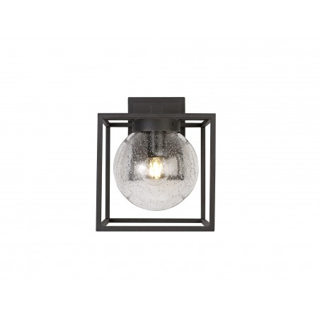 Capella Down Wall Lamp, 1 x E27, IP54, Anthracite/Clear Seeded Glass, 2yrs Warranty DELight - 4