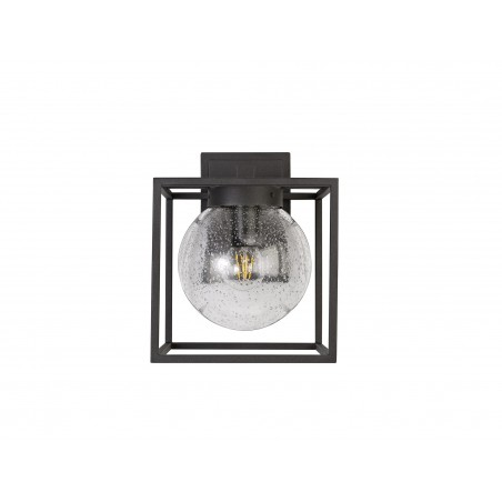 Capella Down Wall Lamp, 1 x E27, IP54, Anthracite/Clear Seeded Glass, 2yrs Warranty DELight - 5