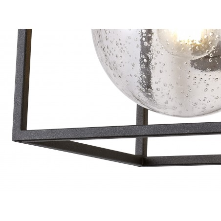 Capella Down Wall Lamp, 1 x E27, IP54, Anthracite/Clear Seeded Glass, 2yrs Warranty DELight - 7