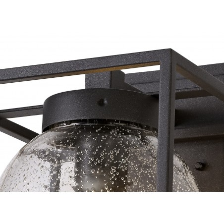 Capella Down Wall Lamp, 1 x E27, IP54, Anthracite/Clear Seeded Glass, 2yrs Warranty DELight - 8