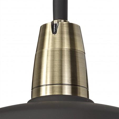 Leda Wall Lamp, 1 Light E27, IP65, Matt Black/Antique Brass, 2yrs Warranty DELight - 6