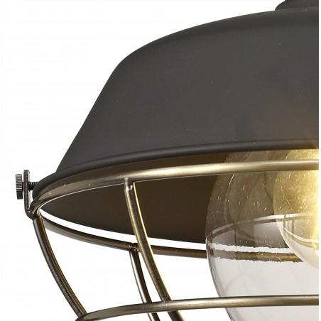 Leda Wall Lamp, 1 Light E27, IP65, Matt Black/Antique Brass, 2yrs Warranty DELight - 7
