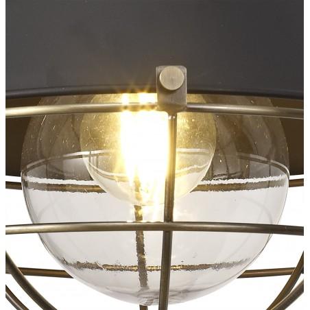 Leda Wall Lamp, 1 Light E27, IP65, Matt Black/Antique Brass, 2yrs Warranty DELight - 8