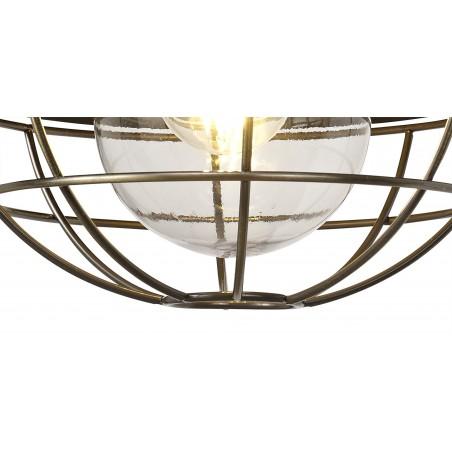 Leda Wall Lamp, 1 Light E27, IP65, Matt Black/Antique Brass, 2yrs Warranty DELight - 9