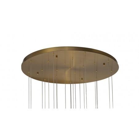 Zeno Pendant 5M, 21 x G9, Brass/Copper & Cognac Glass DELight - 4