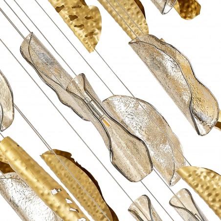 Zeno Pendant 5M, 21 x G9, Brass/Copper & Cognac Glass DELight - 5