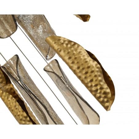 Zeno Pendant 5M, 21 x G9, Brass/Copper & Cognac Glass DELight - 6