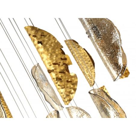 Zeno Pendant 5M, 21 x G9, Brass/Copper & Cognac Glass DELight - 7