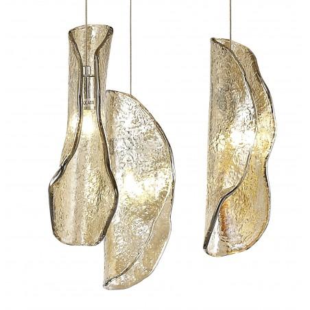 Zeno Pendant 5M, 21 x G9, Brass/Copper & Cognac Glass DELight - 8