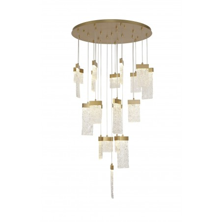 Lyra Pendant Round 5M, 21 x 4.5W LED, 3000K, 3360lm, Painted Brushed Gold, 3yrs Warranty DELight - 1