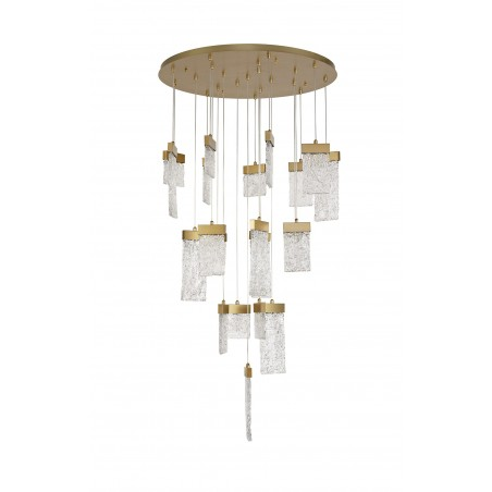 Lyra Pendant Round 5M, 21 x 4.5W LED, 3000K, 3360lm, Painted Brushed Gold, 3yrs Warranty DELight - 3