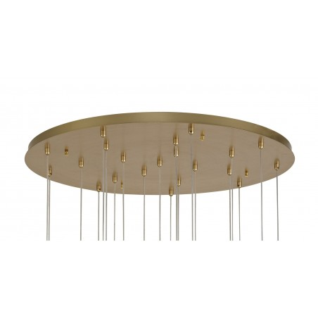 Lyra Pendant Round 5M, 21 x 4.5W LED, 3000K, 3360lm, Painted Brushed Gold, 3yrs Warranty DELight - 4