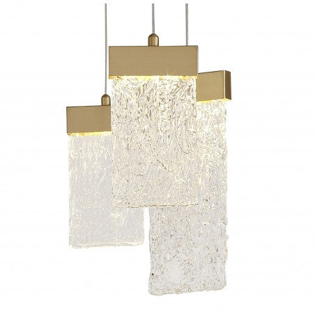 Lyra Pendant Round 5M, 21 x 4.5W LED, 3000K, 3360lm, Painted Brushed Gold, 3yrs Warranty DELight - 5