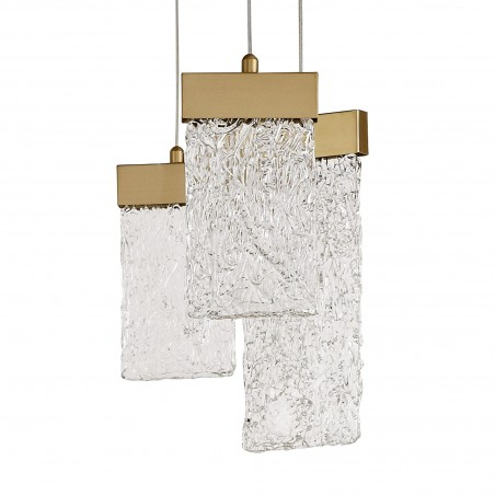 Lyra Pendant Round 5M, 21 x 4.5W LED, 3000K, 3360lm, Painted Brushed Gold, 3yrs Warranty DELight - 7