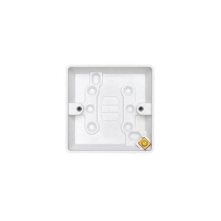 MK K2160WHI Box 1 Gang 16mm White Surface Box
