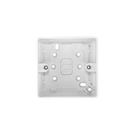 MK K2140WHI 1 Gang 30mm White Surface Box