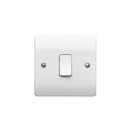 MK K4870WHI 1 Gang 1 Way 10A White Switch