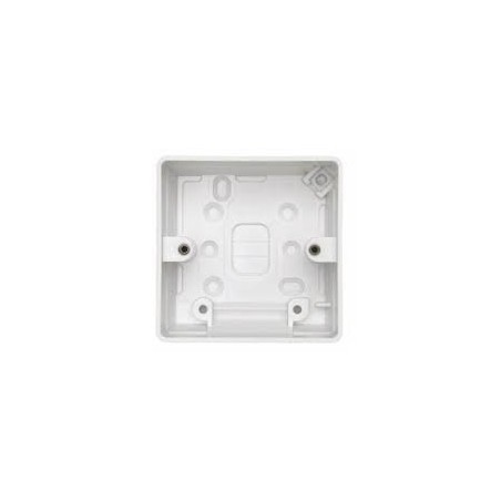 MK K2031WHI 1 Gang 40mm White Surface Box