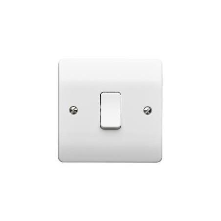 MK K4871WHI 1 Gang 2 Way 10A White Switch