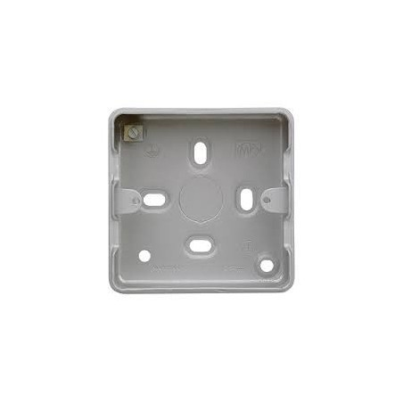 MK K8891ALM 1/2Gang 40mm Surface Metal Box with Knockouts