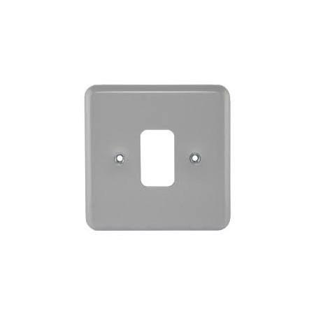MK K3491ALM 1 gang 1 Module Metal Grid Plate