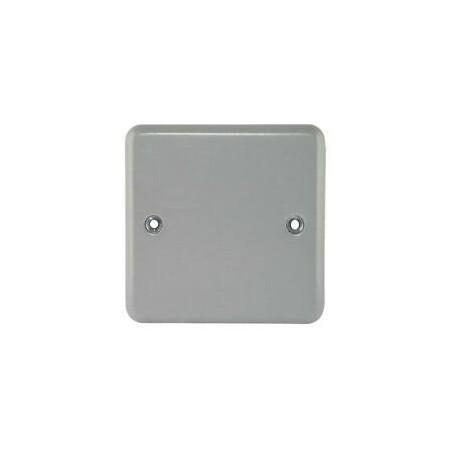 MK K3390ALM 1 Gang Metal Blank Plate