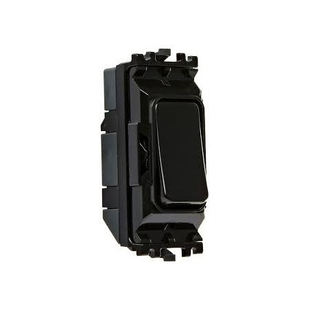 MK K4881BLK 10A 1 Way Single Pole Black Grid Switch