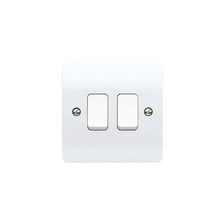MK K4872WHI 2 Gang 2 Way 10A White Switch