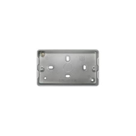 MK K8892ALM 3/4Gang 40mm Surface Metal Box with Knockouts