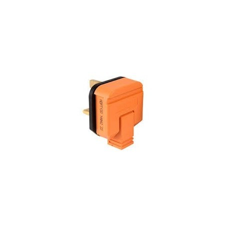 MK PF133ORG 13A 3pin Orange Duraplug Plugtop