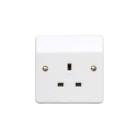 MK K780WHI 13A 1 Gang White Unswitched Socket