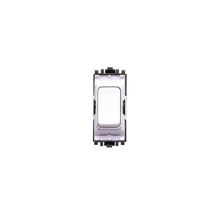 MK K4981WHI 10A 1 Way Double Pole White Grid Switch