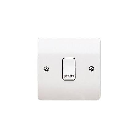 MK K4878PWHI 1 Gang 10A White Press (Retractive) Switch