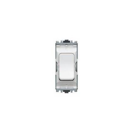 MK K4896WHI 20A 1 Way Double Pole White Grid Switch