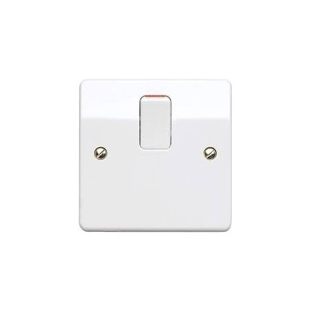 MK K5403WHI 20A 1 Gang White Double Pole Switch with Flex Outlet